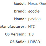 Testing of Gingerbread and Honeycomb OS spotted on AIR Benchmark website