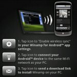 Winamp 0.9.2 for Android is available, gives you the chance to play your PC music on your handset