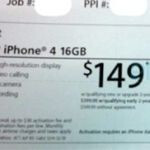 Radio Shack offers the iPhone 4 for $149