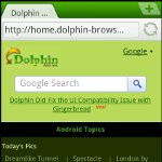 You can now download the Dolphin Browser Mini