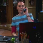Android robot appears on Sheldon's desk in