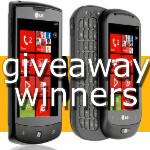 LG WP7 Giveaway: winner drawing and poll results