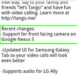 Video calling on Google Nexus S now possible thanks to Tango app