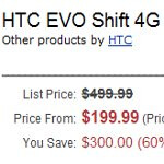 Amazon is teasing the yet to be officially announced HTC EVO Shift 4G on their site