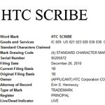 HTC patents an HTC Scribe tablet device trademark