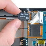 Teardown of the HTC Surround reveals a microSD card