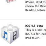 Apple outs iOS 4.3 Beta to developers