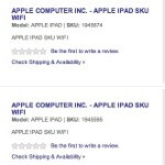 Best Buy's 3 placeholder SKU's for the Wi-Fi Apple iPad suggest the sequel is coming soon