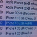 Vodafone Germany's inventory system reveals a white iPhone 4 model