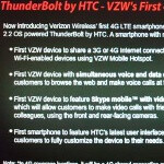 HTC ThunderBolt to be the first Verizon handset to support voice and data at the same time