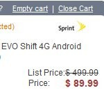 HTC EVO Shift 4G gets a fitting price drop to $89.99 courtesy of Amazon
