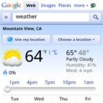 Google adds slider to its weather search page to show hour-by-hour conditions