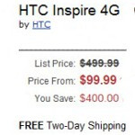 HTC Inspire 4G to cost mere $99, the Motorola ATRIX 4G - $149?