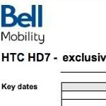 Bell will start selling the HTC HD7 beginning February 10th