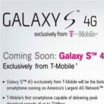 Sign up page for the Samsung Galaxy S 4G is now up on T-Mobile's web site