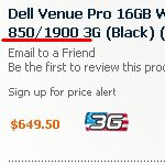 Pre-order for the Dell Venue Pro with support for AT&T 3G is spotted online