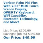 Yet another vendor is selling Verizon's Palm Pixi Plus for $49.99 no-contract