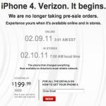 Verizon iPhone pre-orders are sold out