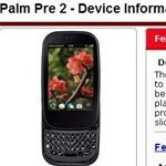 Palm Pre 2 will be landing on F