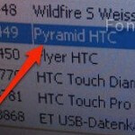 HTC Pyramid shows up on European carrier's inventory system