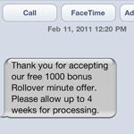 AT&T iPhone customers are being given a bonus 1000 rollover minutes for their loyalty
