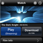 Dark Knight app for the Apple iPhone starts as free preview and can end with you downloading the full-length film