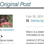 Sprint goes on the record to say Froyo update for the Epic 4G is coming February 21st