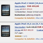 Amazon Germany briefly lists the iPad 2 with a Thunderbolt port and 1.2GHz chipset
