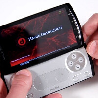 The Havok game physics engine for Android demoed on the Sony Ericsson Xperia Play