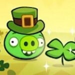 The Angry Birds show their Irish side for St. Patricks Day