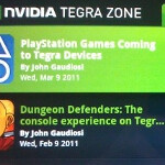 Tegra 2 Android devices to have Playstation suite in 2011