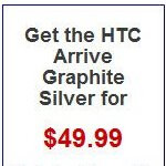 Pre-orders available through Wirefly for the $49.99 on-contract HTC Arrive