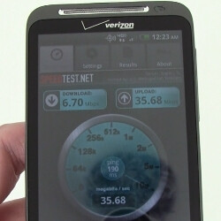 HTC ThunderBolt 4G LTE data speed tests