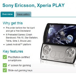 Sony Ericsson Xperia PLAY available for pre-order in the UK