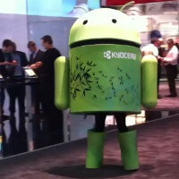 Android mascot stepping up to show you how robots do it (video)
