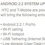 T-Mobile myTouch 3G Slide gets in with its Android 2.2 Froyo update