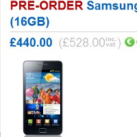 Samsung Galaxy S II delayed until May, 32GB model to cost more than $1100 in the UK