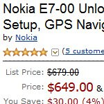 Amazon one-ups Nokia's online store by selling the E7 for $649 in the US