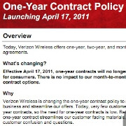 Verizon nixes the one-year contract option from April 17th