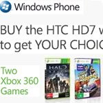 Telstra HTC HD7 buyers can get either Xbox games or 3000 XBOX Live points for free