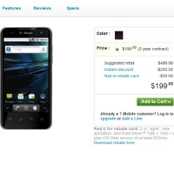 Dual-core T-Mobile G2x is now available on T-Mo's site