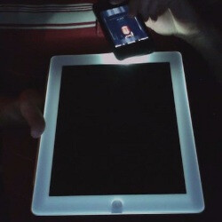 Here's how you can make your white iPad 2 glow in the dark