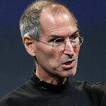 Steve Jobs says Apple devices do not track a person's location, but Android phones do