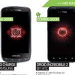 Samsung Droid Charge & HTC Droid Incredible 2 are listed as coming soon to Best Buy