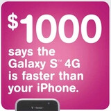 T-Mobile's Galaxy S 4G challenges the iPhone to a $1000 wireless speed battle