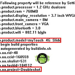 T-Mobile myTouch 4G Slide may be the name of the HTC Doubleshot, a 3D handset?