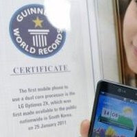 "Guinness Records certifies the Optimus 2X as ""the world's first dual-core smartphone"""