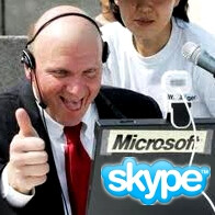 Microsoft buys Skype for the staggering $8.5 billion, to use it in Windows Phone 7 and Kinect