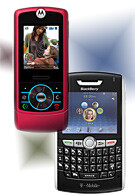 T-Mobile gets BlackBerry 8800 and Rose RIZR