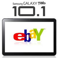 Samsung GALAXY Tab 10.1 Google I/O edition for sale on eBay with a four-digit price tag